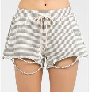 LAST4️⃣ Ivory Cut Shorts